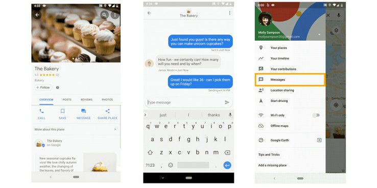 Google erweitert Maps um eine Chat-Funktion.