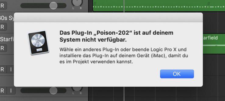 Plugin.jpg Beim Übergang zu Logic X Pro auf dem Mac können externe Plugins aus iOS fehlen.