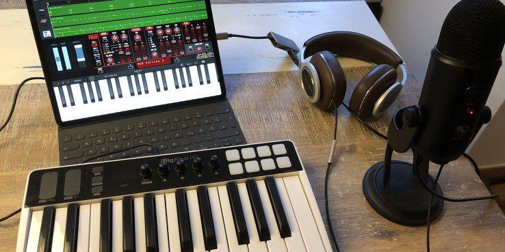 Mit dem richtigen Zubehör wird das iPad zum mobilen Tonstudio