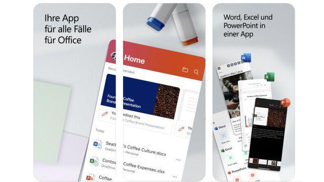 Statt Word und Excel: Microsoft Office-App neu für iOS