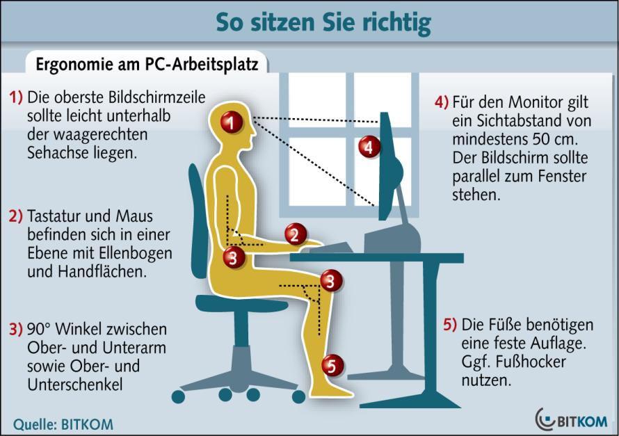 Bild Richtig Sitzen Eine Ergonomische Sitzhaltung Beugt