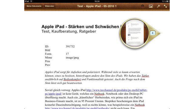 App für Apple iPad: Apple Pages - Textverarbeitung auf dem iPad ...