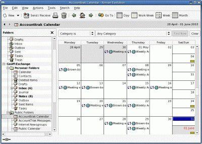 """Ximians Groupware-Client """"Evolution"""" lässt sich über einen Connector in einen vollwertigen Exchange-Client verwandeln."""
