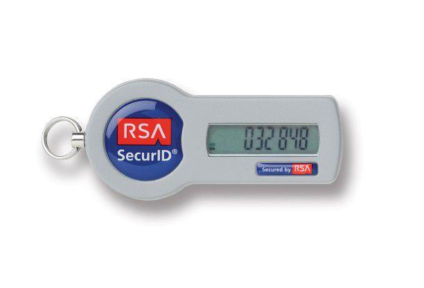 Das Einmalpasswort auf dem SID700 von RSA ändert sich minütlich.