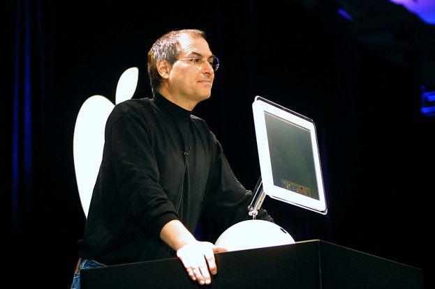 Steve Jobs auf der Keynote im Januar 2007