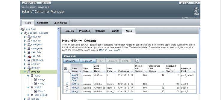 Der kostenpflichtige Solaris Container Manager verspricht eine komfortablere Einrichtung und Administration von Zonen.