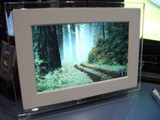 Bei Sideshow sind der Phantasie keine Grenzen gesetzt: hier ein digitaler Bilderrahmen.
