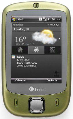 """HTC Touch von HTC - die Farbe nennt sich """"Wasabi""""."""