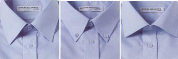 Die kleine Hemdenkunde: Kentkragen (links), Button-down-Kragen (Mitte) und Haifischkragen (rechts).