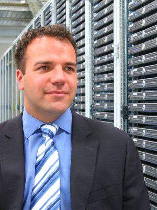 Prokurist Patrick Pulvermüller war bei Host Europe für den Neubau verantwortlich.