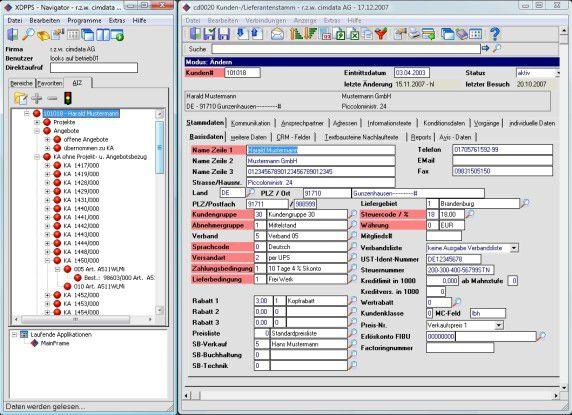 Die neue Benutzeroberfläche von XDPPS (vormals cd2000) soll Anwendern das Navigieren in Menüs, Masken und Feldern erleichtern.