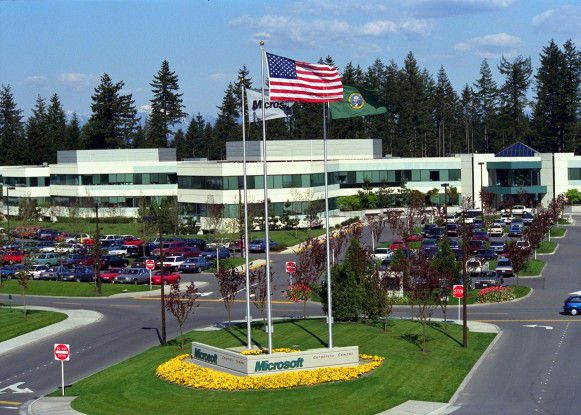 Der Microsoft-Campus in Redmond bei Seattle
