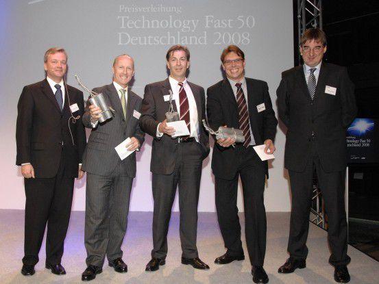 Die Gewinner des Technology-Fast-50-Awards von Deloitte. (Foto: Event Foto Köln)