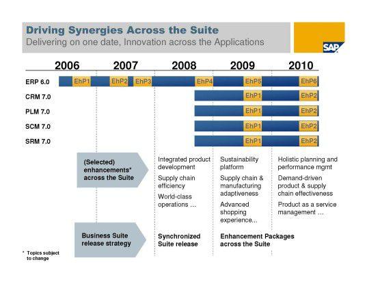 Über Enhancement Packages sollen SAP-Kunden ihre Geschäftsapplikationen ohne großen Aufwand erweitern können.