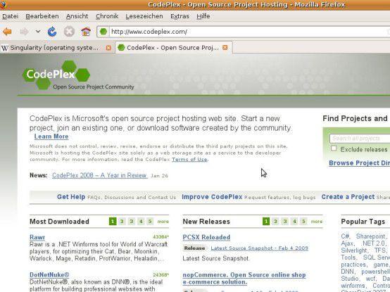 Mit CodePlex stellt Microsoft eine Hosting-Plattform für Open-Source-Projekte bereit.