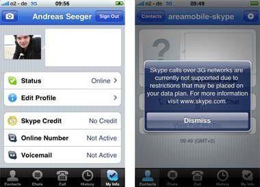 Skype und andere VoIP-Dienste sind Mobilfunkanbietern ein Dorn im Auge. Foto: Areamobile.de
