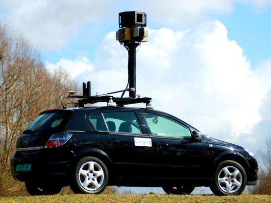 """Mit solchen Street-View-Kameraautos hat Google """"aus Versehen"""" auch WLAN-Datenschnipsel erfasst."""