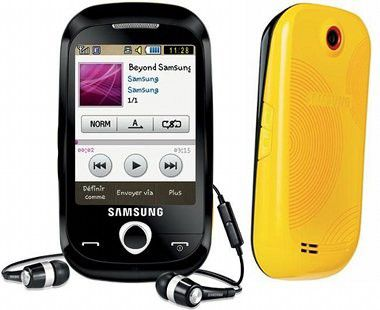 Samsung Corby: Kleines Touchscreen-Handy für 200 Euro.