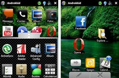 Androkkid: Android-Feeling für Windows-Mobile-Smartphones.