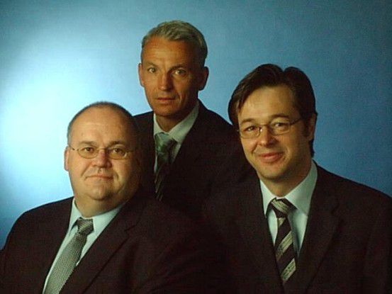 Jörg Plegge, Christoph Dewey, Bernd Raff (von links) haben DPRP ins Leben gerufen.