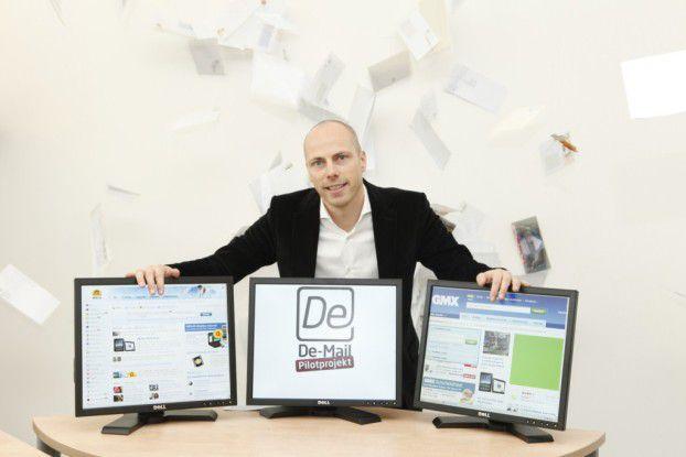 De-Mail ist bald kein Pilotprojekt mehr. 1&1-Vorstand Jan Oetjen ist für die Portale Web.de und GMX verantwortlich.