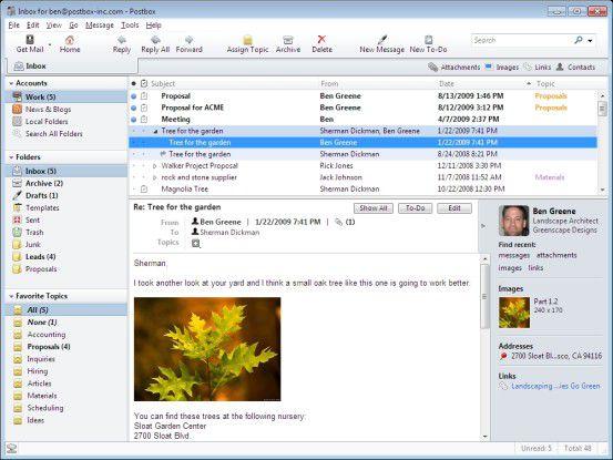 Der Mail-Client von Postbox.