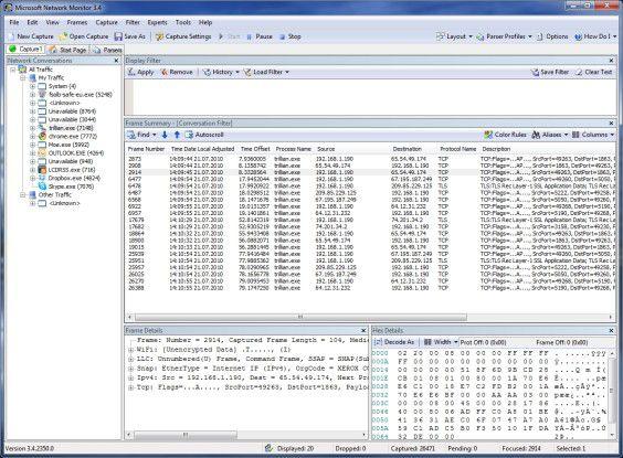 Über die Traffic-Überwachung hinaus bietet Microsofts Network Monitor umfangreiche Parsing-Funktionen.