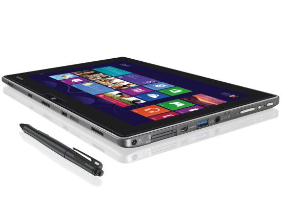 Tablet WT310 von Toshiba: soll noch in diesem Quartal kommen.