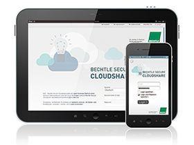 """Bechtle bietet unter anderem mit """"Secure Cloudshare"""" eine Business-Alternative zu Dropbox & Co - verschlüsselt und auf Wunsch in einem deutschen Rechenzentrum."""