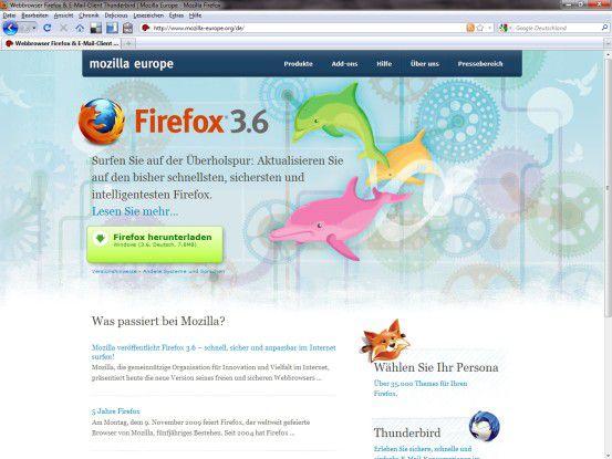 Firefox 3.6 bringt wichtige Neuerungen für Nutzer und Web-Entwickler.
