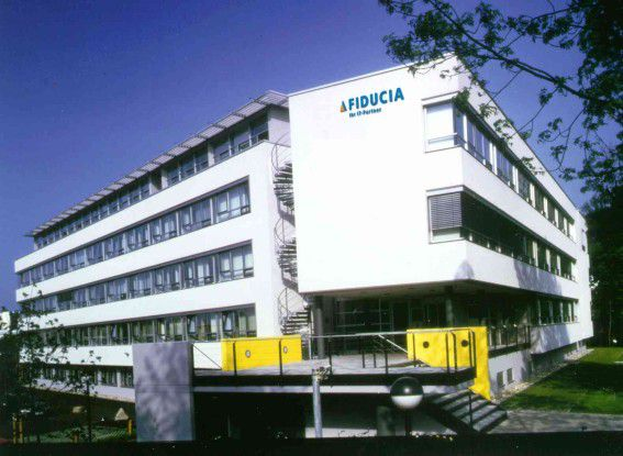 Die Fiducia-Zentrale in Karlsruhe