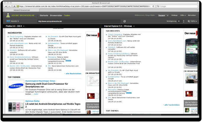 Browserlab hilft Web-Designern einfach zu überprüfen, wie ihre Seiten auf unterschiedlichen Browsern dargestellt werden.