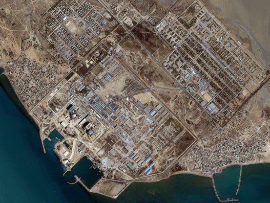 Eine Luftbildaufnahme der iranischen Atomanlage in Buschehr (Foto: iranwatch.org)