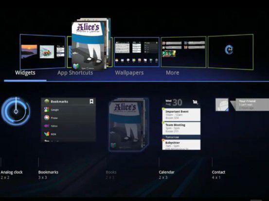 """Android 3.0 """"Honeycomb"""" ist erstmals für Tablet-Rechner ausgelegt."""