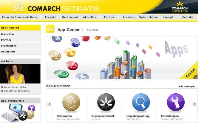 Über das App-Center sollen Semiramis-Anwender künftig zusätzliche ERP-Funktionen aus dem Netz laden können.