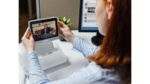 Die Zukunft: Leistungsfähige Tablets (im Bild Cisco Cius) lösen Telefon und PC ab.