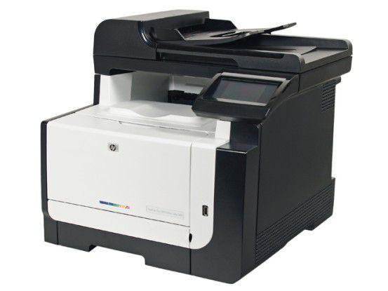 HP Laserjet Pro CM1415fnw: Farblaser-Multifunktionsgerät mit Touchscreen.