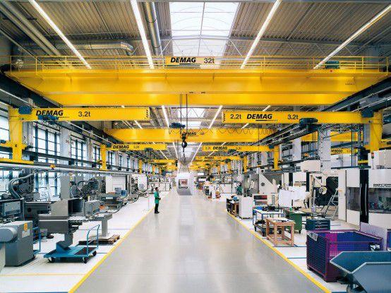 Gelb ist die Farbe von Demag Cranes.