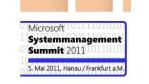 Microsoft System Center und Virtualisierungslösungen: 5. Systemmanagement Summit 2011 - Foto: Microsoft