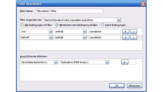 Mail-Filter in Thunderbird einrichten