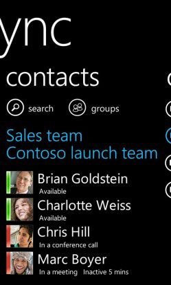 Lync for Windows Phone