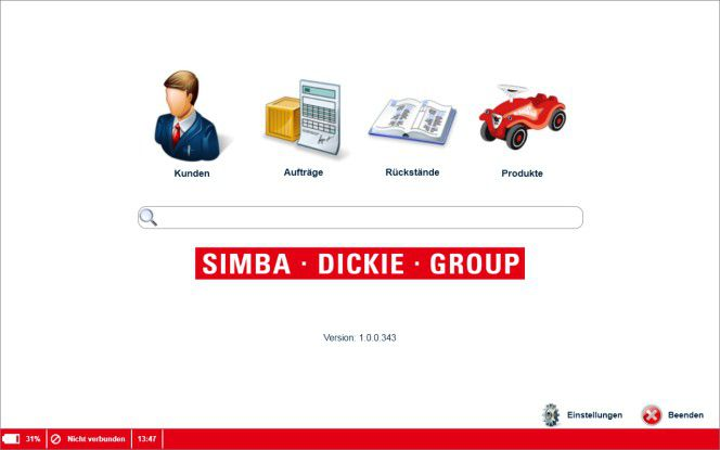 Übersichtlich sollte sie sein - die Mobile Sales CRM App für Vertriebsmitarbeiter der Simba Dicke Group.