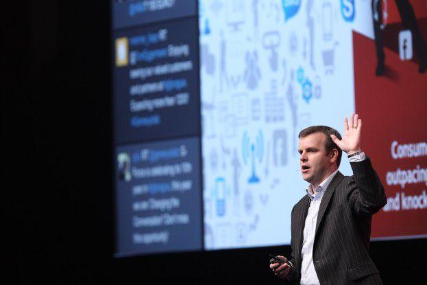 """""""Der Einsatz und die Nutzung sozialer Medien fordern einen neuen Ansatz, der die Kommunikationssilos in Unternehmen aufbrechen wird."""" Tom Eggemeier, Senior Vice President und General Manager Alcatel-Lucent Enterprise EMEA."""