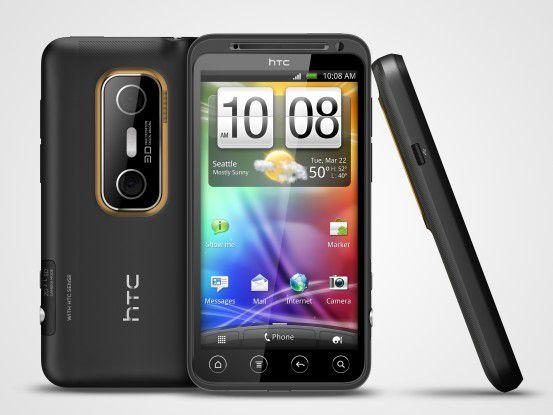 """HTC """"Evo 3D"""" mit der typischen """"Sense""""-Oberfläche"""