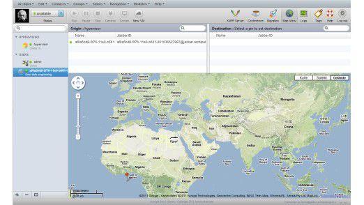 Geographische Ressourcen-Ansicht in Archipel