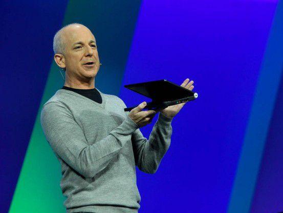 Windows-Chef Steven Sinofsky stellte die Entwicklerversion von Windows 8 auf der BUILD Conference vor.