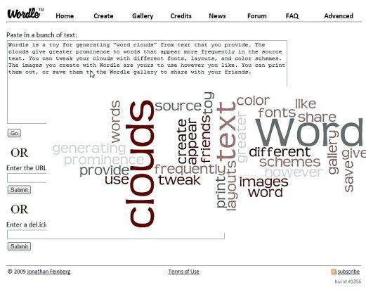 Wordle - Tag-Wolken einfach erstellt.