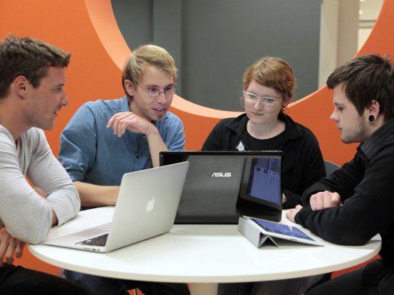 Das Cortado-Entwicklerteam bei der Arbeit.