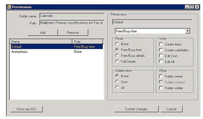 Outlook-Rechte steuern.