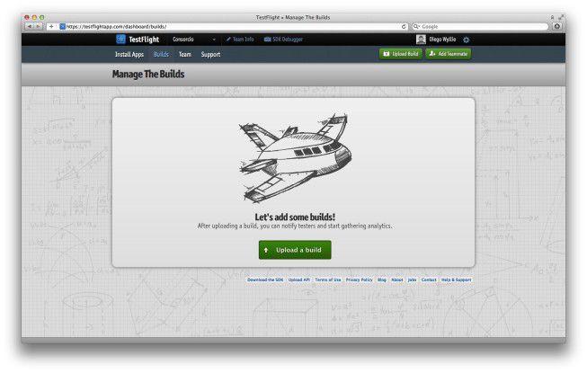 Auf dem Web-Dashboard von TestFlight können Entwickler den Distributionsprozess von ihren iOS-Apps zentral verwalten.